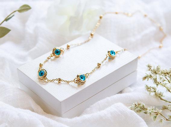 Azure 5 Eye Necklace