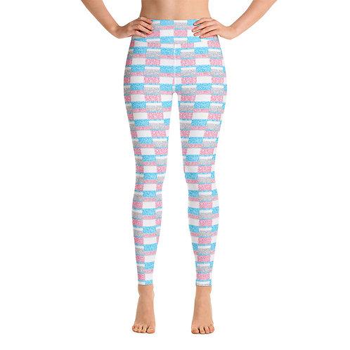 Women Yoga Unity Leggings Blue And Pink