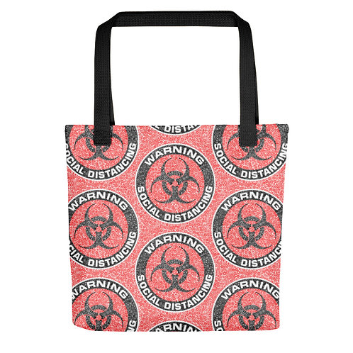 Social Distancing Tote Red