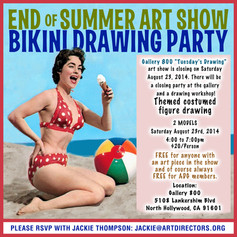 2014/08/23 - End Of Summer Bikini Drawing Party