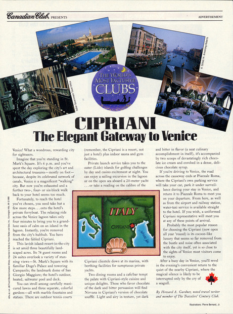 Canadian Club Ad Seen In Newsweek Magazine