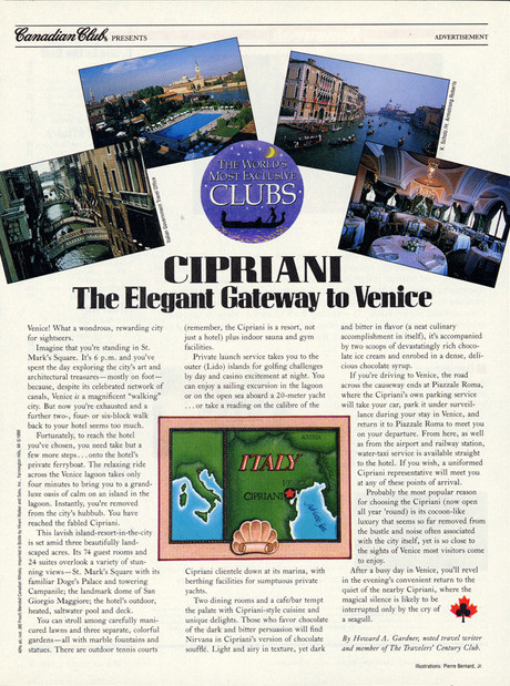 Canadian Club Ad Seen In Newsweek Magazine