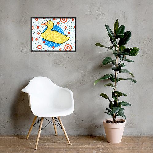 Rubber Duck Framed Poster