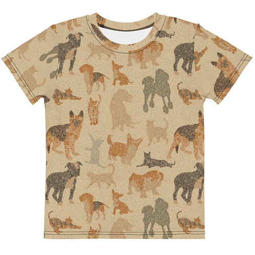 Kids Cats And Dogs T-Shirt