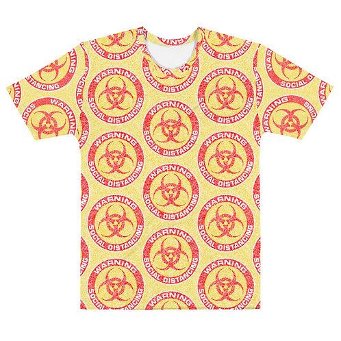 Men All Over Social Distancing T-Shirt Yellow