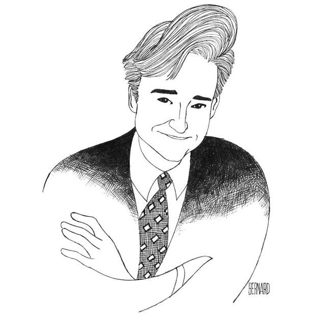 Conan Drawn In The Style Of Al Hirschfeld
