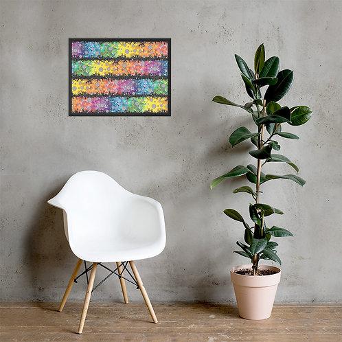Light Spectrum with Dark Matter  Framed Poster