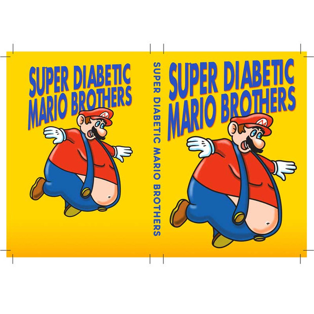 Super Diabetic Mario Brothers Video Game Box
