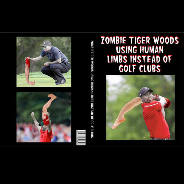Zombie Tiger Woods Using Human Limbs Instead Of Golf Clubs