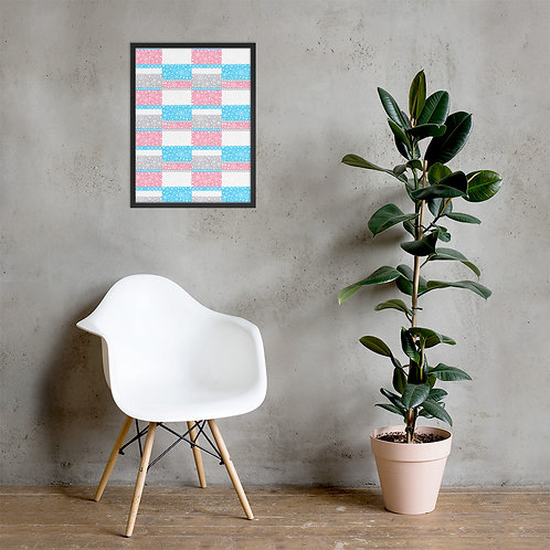 Blue And Pink Unity Framed Poster