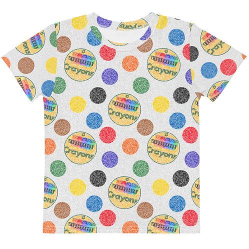 Kids Crayon Polka Dots T-Shirt