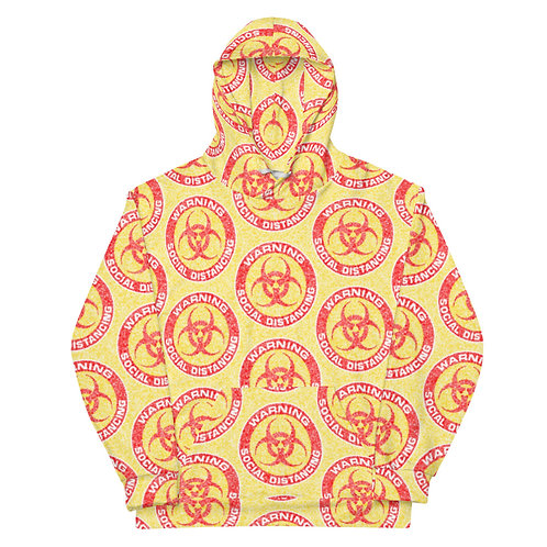 All Over Social Distancing Hoodie Yellow