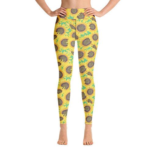 Women Yoga Sunflowers Leggings