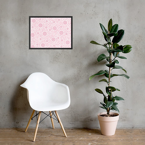Think Pink Framed Poster