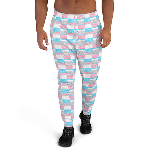 Men's Unity Joggers Blue And Pink
