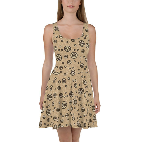 Cats And Dogs Circles Skater Dress