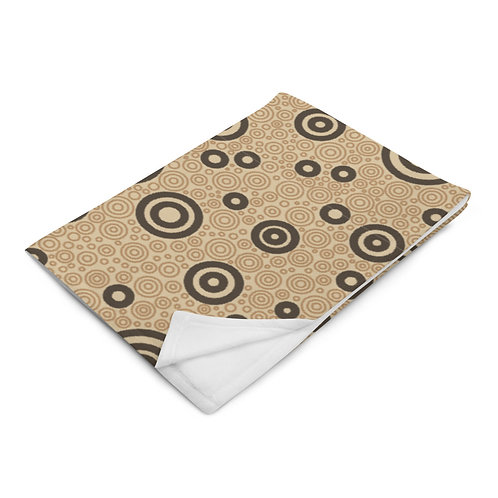 Cats And Dogs Circles Throw Blanket