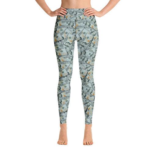 Women Yoga 100 Dollar Bills Leggings