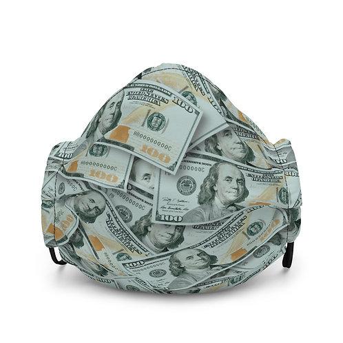 100 Dollar Bills Premium Face Mask