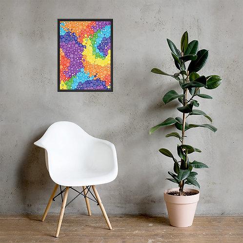 Tie Dye Framed Poster