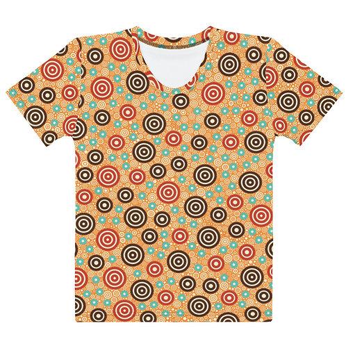 Women All Over Aztec Warrior T-Shirt Gold