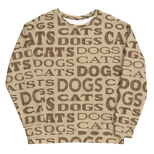 Cats And Dogs Type Sweatshirt