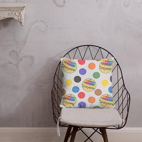 Crayon Polka Dots Premium Pillow