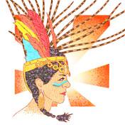 """Pen & Ink - """"Aztec Warrior"""""""