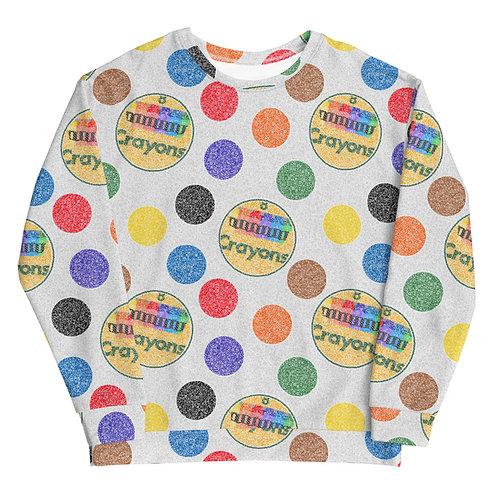Crayon Polka Dots Sweatshirt