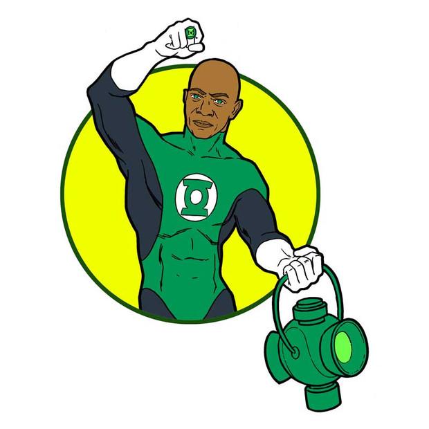 Samuel Jackson As Green Lantern
