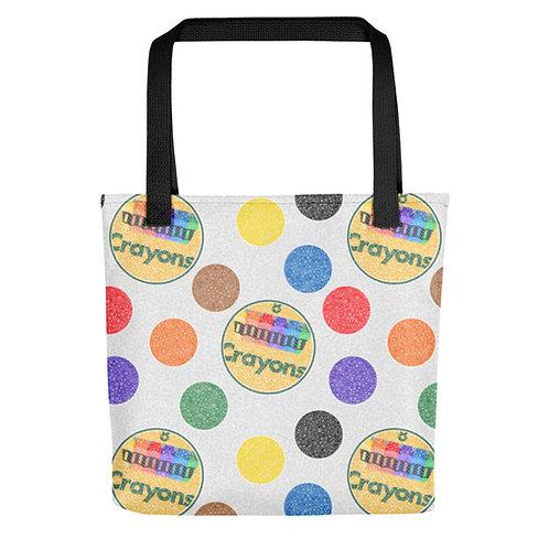 Crayon Polka Dots Tote Bag