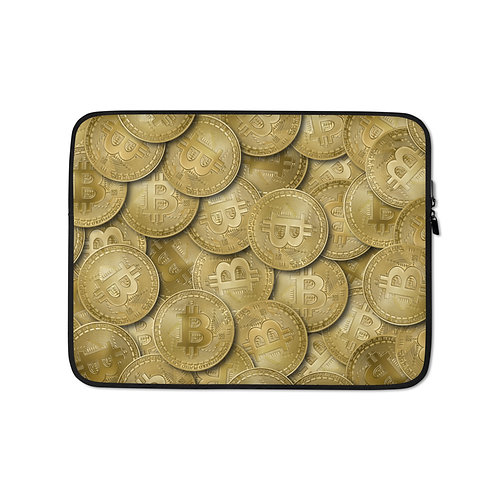 Cryptocurrency Bitcoin Laptop Sleeve