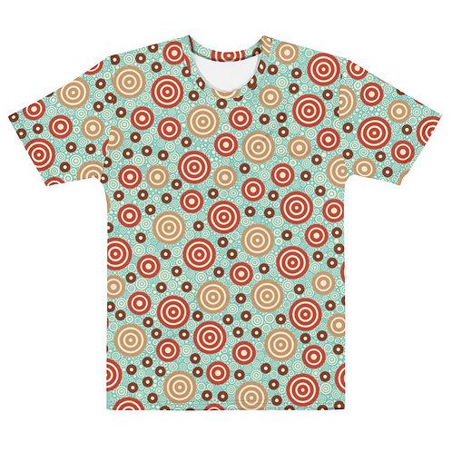 Men All Over Aztec Warrior T-Shirt Sky