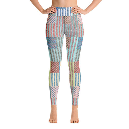 Women Yoga American Pop Leggings