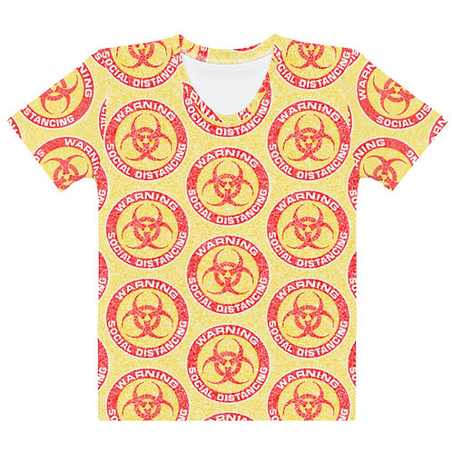 Women All Over Social Distancing T-Shirt Yellow