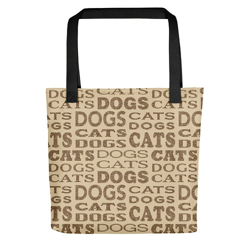 Cats And Dogs Type Tote