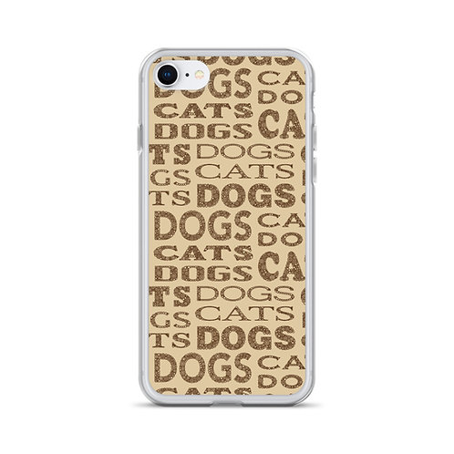 Cats And Dogs Type iPhone Case