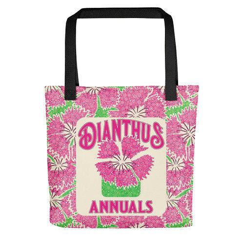 Dianthus Annuals Tote Bag
