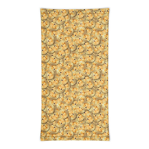 Cryptocurrency Dogecoin Neck Gaiter