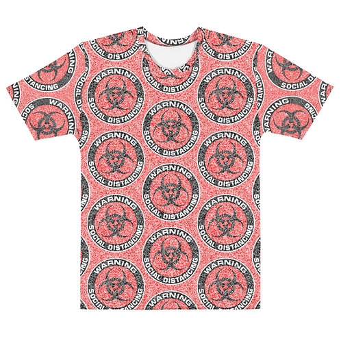 Men All Over Social Distancing T-Shirt Red