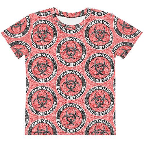 Kids Social Distancing T-Shirt Red