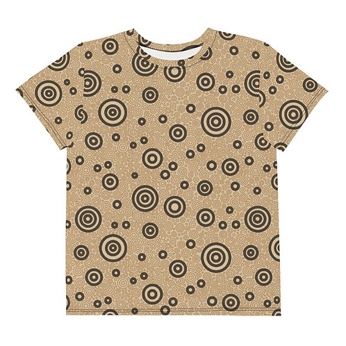 Youth All Over Cats And Dogs Circles T-Shirt