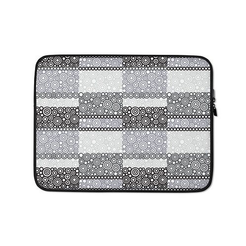 Unity Laptop Sleeve Black And White