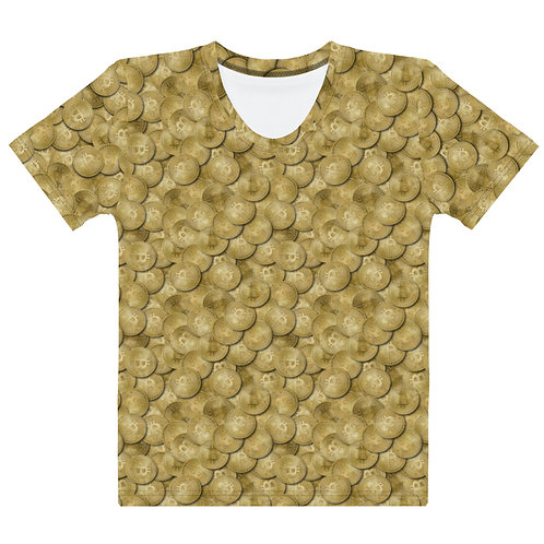 Women All Over Cryptocurrency Bitcoin T-Shirt