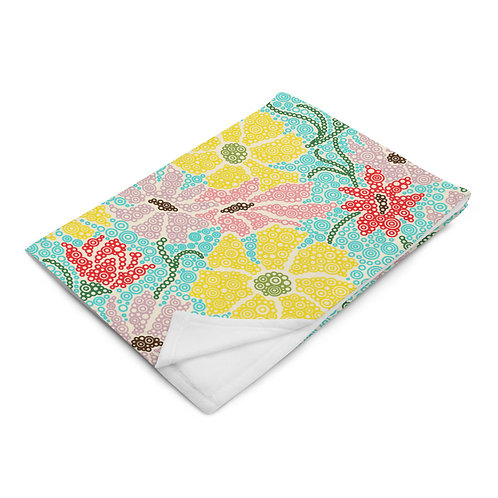 Spring Garden Throw Blanket