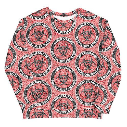 Social Distancing Sweatshirt Red