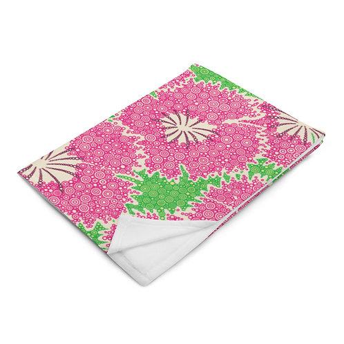 Dianthus Annuals Throw Blanket