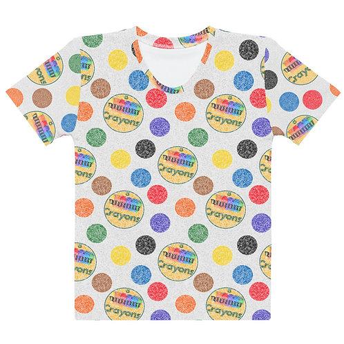 Women All Over Crayon Polka Dots T-Shirt