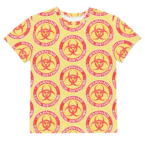 Youth All Over Social Distancing T-Shirt Yellow