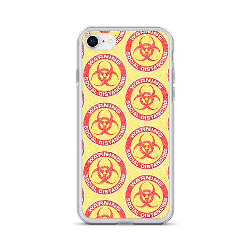 Social Distancing iPhone Case Yellow